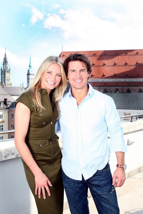 Knight & Day Filmpremiere der 20 th century fox am 21.07.2010 in München  Tom Cruise und Cameron Diaz auf der Dachterasse vom Hotel Bay.Hof