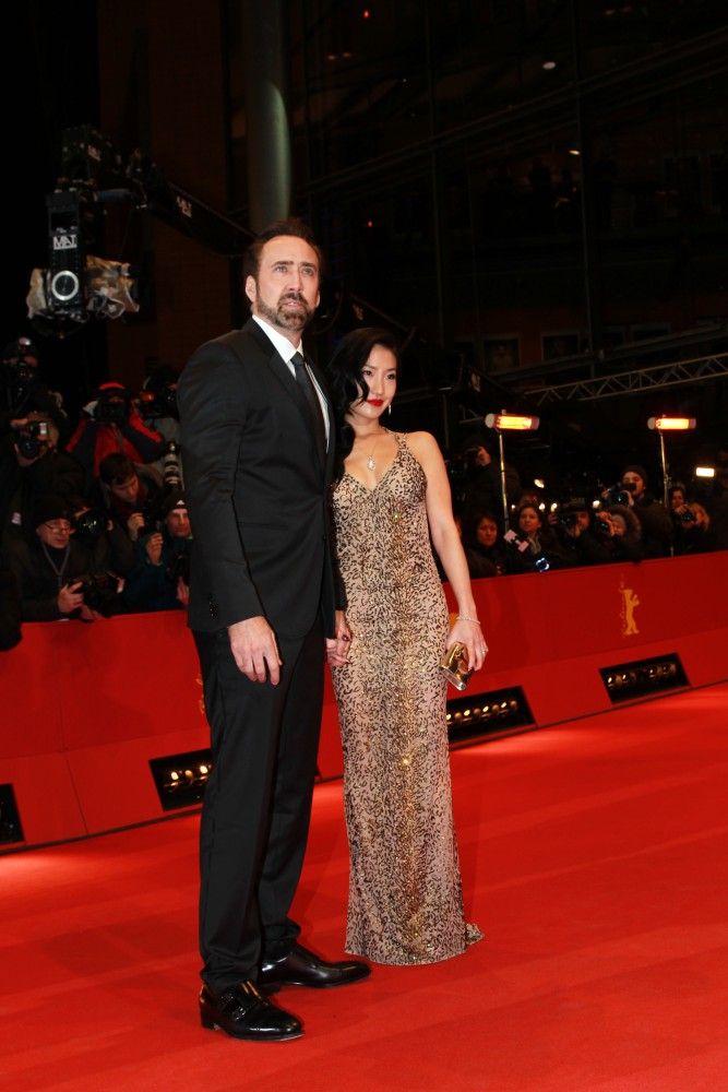 Nicolas Cage and his wife Alice Kim  63. BERLINALE - World Premier of THE CROODS at Berlinale Palast in Berlin on 15.02.2013 Foto © Petra Stadler