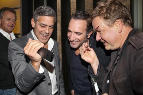 Hugh Bonneville, George Clooney, Jean Dujardin, Justus von Dohnányi