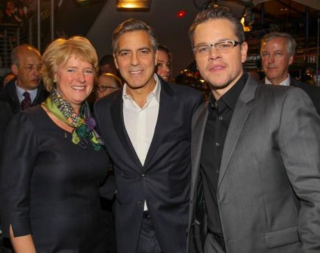 Prof. Monika Grütters (MdB Staatsministerin für Kultur und Medien) George Clooney, Matt Damon